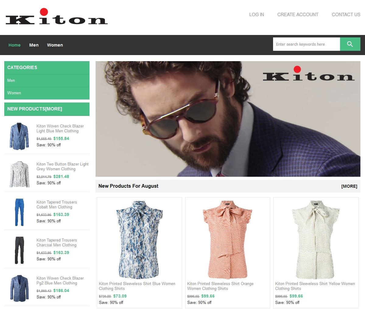 Contrefaçon de Faux vêtements KITON