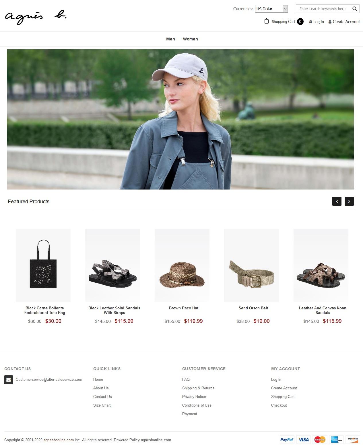 Cybersquatting boutique de faux vêtements AGNES B