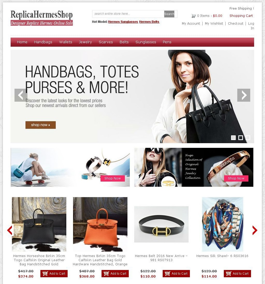 Cybersquatting Boutique Replica faux sac Hermès