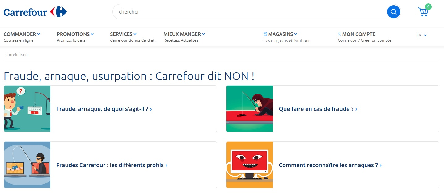 Phishing Nom Domaine Faux Concours Carrefour
