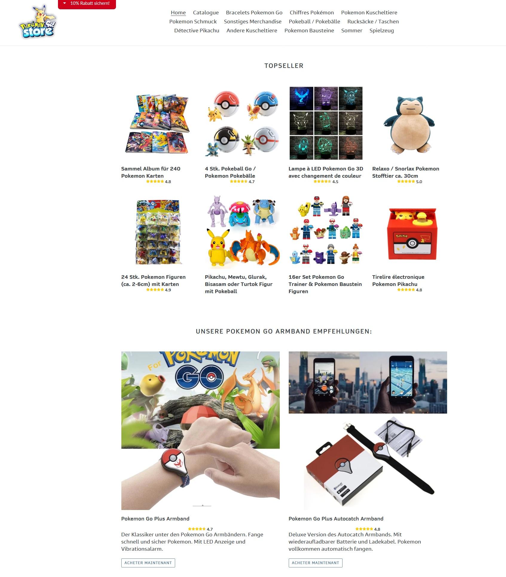 Vente Contrefaçon jouets Pokemon Cybersquatting Nom Domaine