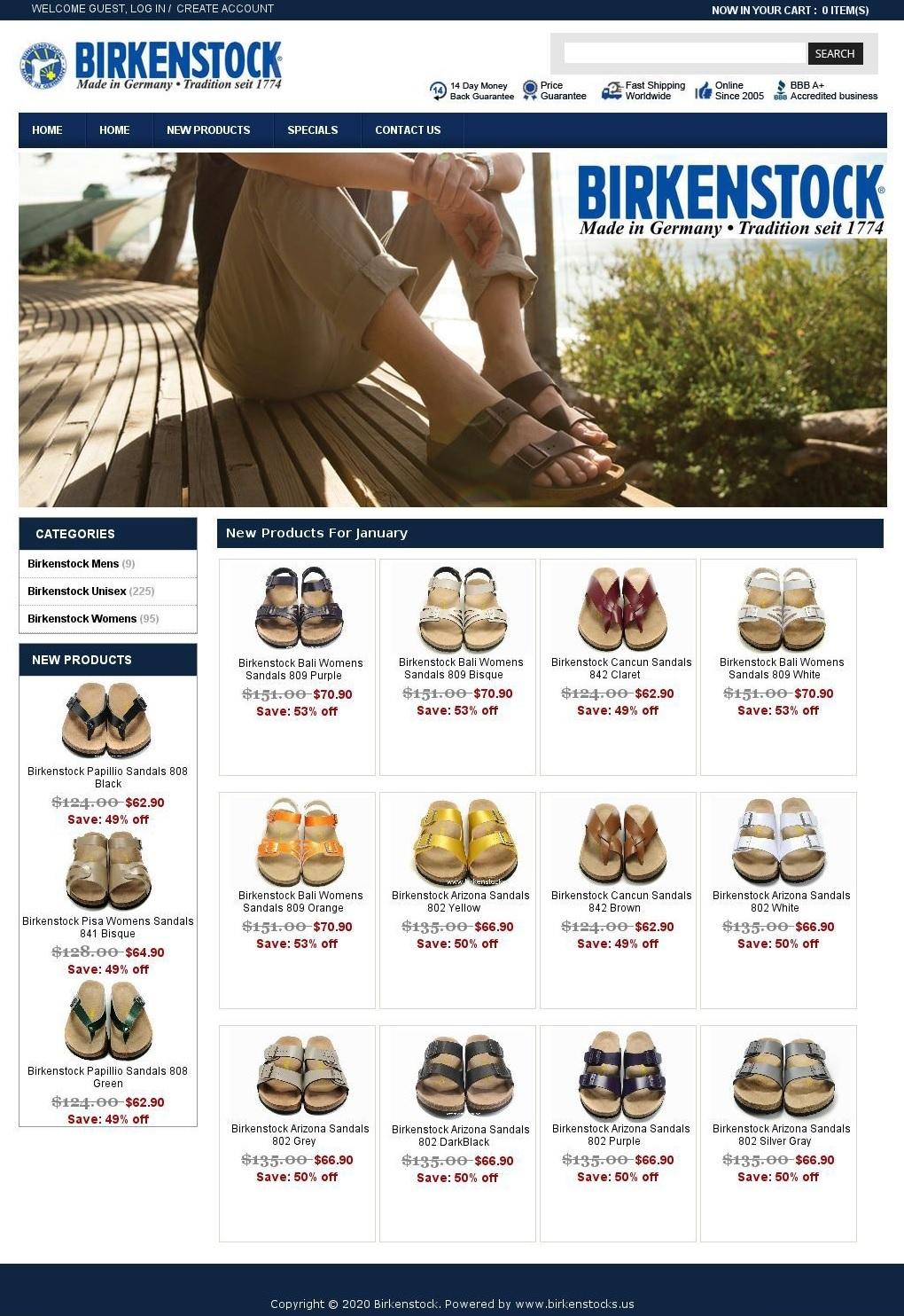 Sandales Birkenstock contrefaites