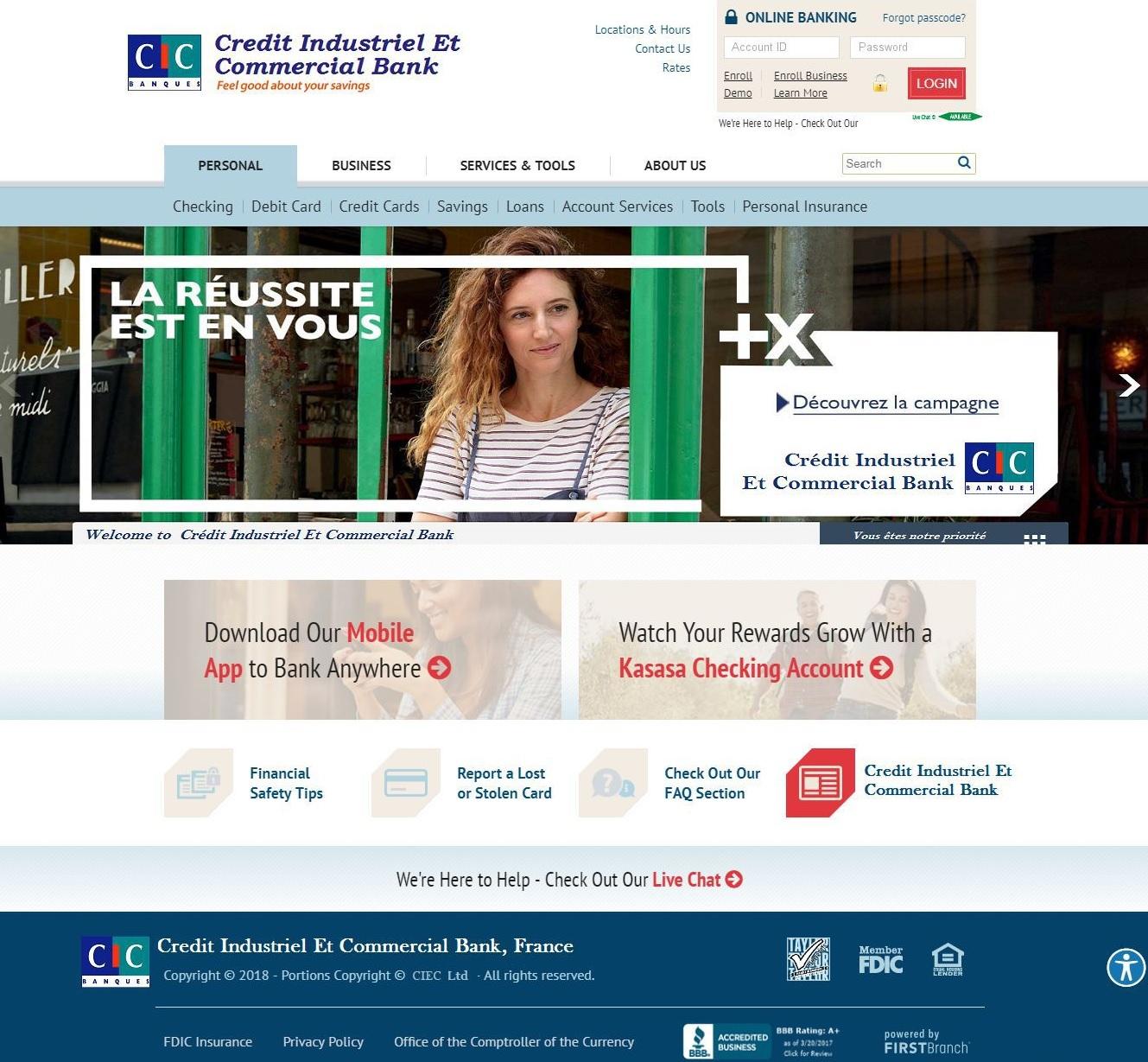 Hameçonnage Banque CIC Cybersquatting Nom Domaine