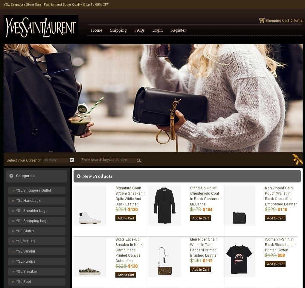 Boutique Contrefaçon Yves Saint Laurent