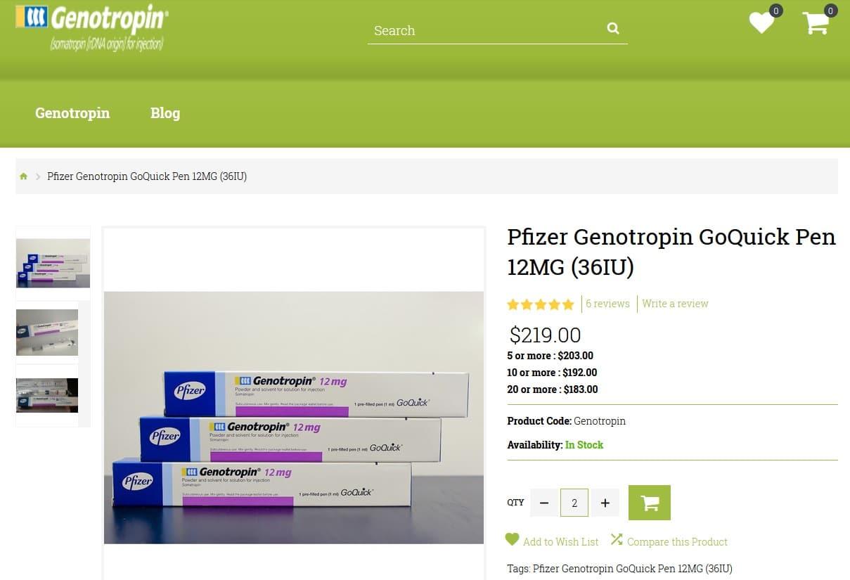 Cybersquatting Nom Domaine Faux Genotropin Pfizer