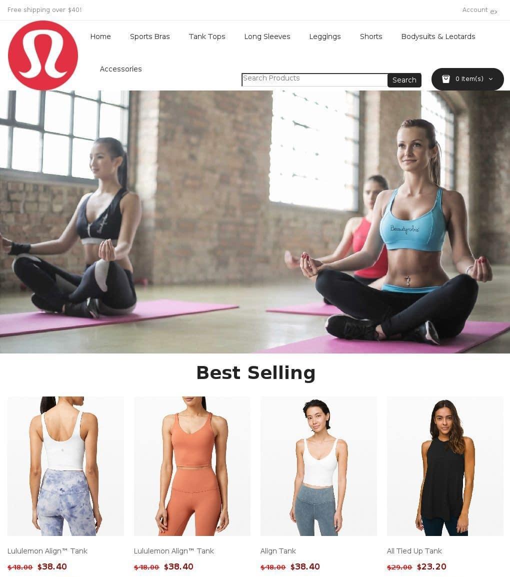 Faux vêtements marque yoga Lululemon