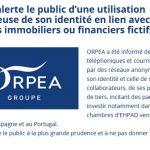 Cybersquartting ORPEA Faux en écriture privée