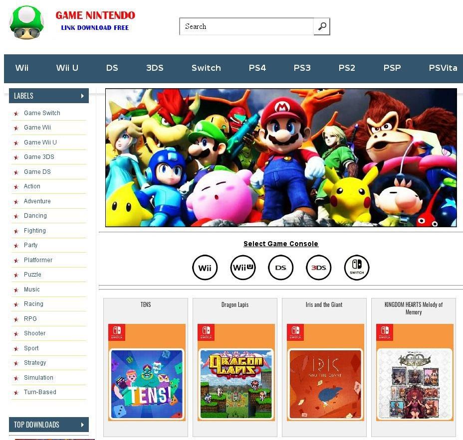 Cybersquatting Faux jeux vidéo Nintendo